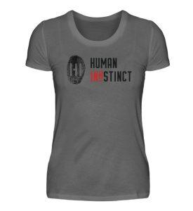 Black Fingerprint mit Schrift - Damen Premiumshirt-627