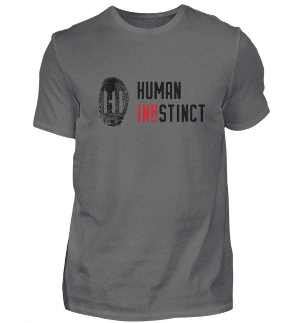 Black Fingerprint mit Schrift - Herren Premiumshirt-627