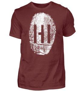 White Fingerprint - Herren Premiumshirt-3192