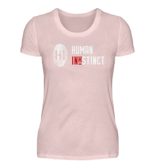 White Fingerprint mit Schrift - Damen Premiumshirt-5949
