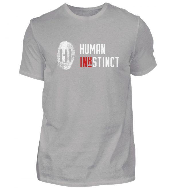 White Fingerprint mit Schrift - Herren Premiumshirt-2998