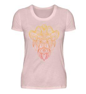 Fineline Artwork Yellow and Red - Damen Premiumshirt-5949