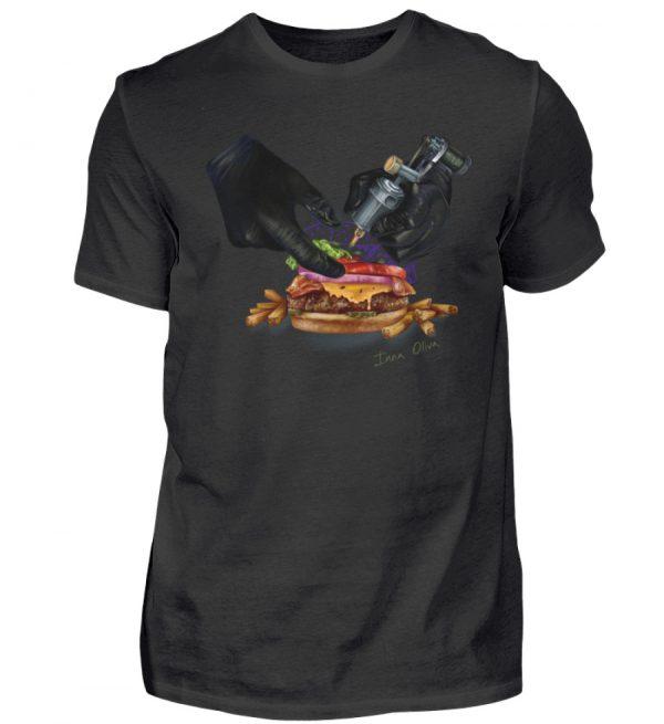 Tattooing Burger by Inna Oliva - Herren Premiumshirt-16