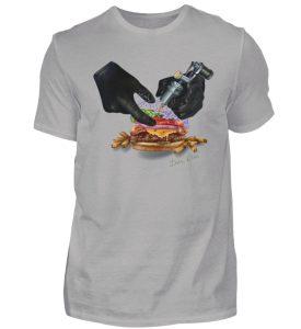 Tattooing Burger by Inna Oliva - Herren Premiumshirt-2998