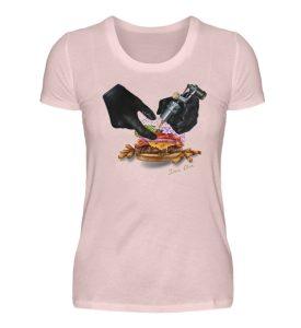 Tattooing Burger by Inna Oliva - Damen Premiumshirt-5949