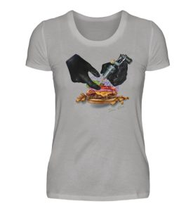 Tattooing Burger by Inna Oliva - Damen Premiumshirt-2998