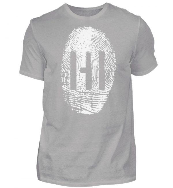 WHITE FINGERPRINT - Herren Premiumshirt-2998