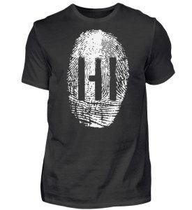 WHITE FINGERPRINT - Herren Premiumshirt-16