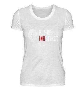 WHITE LOGO - Damen Premiumshirt-3