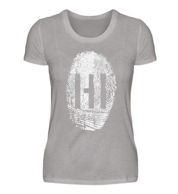 WHITE FINGERPRINT - Damen Premiumshirt-2998