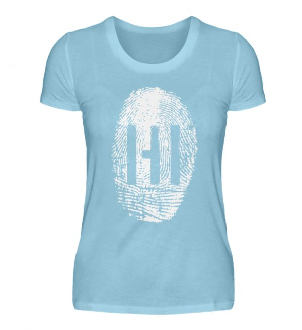 WHITE FINGERPRINT - Damen Premiumshirt-674